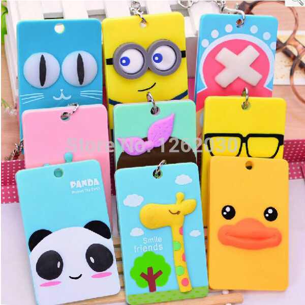 Creative cartoon portable card holder Lovely Name card bag,bank card,Bus card holder(China (Mainland))