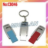 2014 New Sale Metal USB flash Memory Drive 64GB Stick Flash Card PenDrive 32GB with Key chain Free shipping stock  #CB046