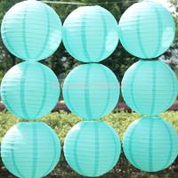 Turquoise Color Paper Lantern,Festival Wedding Party Paper Decoration Lantern Ball,10 pcs/lot, 4 sizes(10cm,20cm,30cm,40cm)