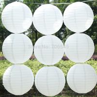 Pure White  Paper Lantern,Festival Wedding Party Paper Decoration Lantern Ball,10 pcs/lot, 4 sizes(10cm,20cm,30cm,40cm)