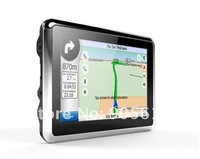 Newest 4.3'' car GPS navigation 4GB with bluetooth av-in latest map/Touch Screen /Fm transimitter window CE 6.0 RAM128