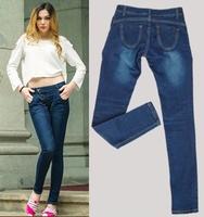 Autumn Winter 2014 New Plus Size Women Harem Jeans  Pants Woman Skinny Denim Trousers Desigual Jardineira calcas jeans femininos