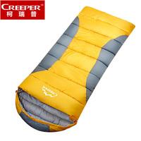 Adult outdoor sleeping bag ultra-light thickening autumn and winter envelope sleeping bag 100% cotton sleeping bag