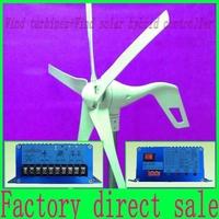 wind generator 600W max,5 blade,12V/24V,wind power turbine+1000W  max Wind solar hybrid Controller with RoHS CE Certification