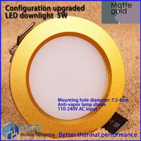 9W anti-vapor Ceiling downlight Epistar LED ceiling lamp Recessed Spot light 85V-245V