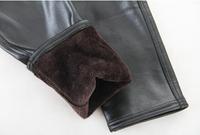 2014 Winter Plus size velvet Leggingsg Warm Faux leather PU stretch Black leggings LG026