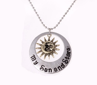 New Arrival Game Of Thrones Necklace Moon Of My Life Sun And Stars Unisex Necklace Wholesale 24pcs/lot