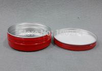 22pcs/lot Free shipping 150ml Red Aluminium cream jar comestic containers box with screw thread Aluminium Balm Tins pot