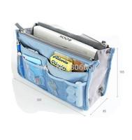 Women Insert Purse Cosmetic Storage Organizer Bag Handbag Makeup Tidy Travel,Collection Organizer wholesale 1000pcs/lot