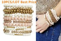 2014 New arrived Fashion Girls Bracelets Pieces Sikla Multipack Stretch Bracelet 10Pcs/Lot Just $1.2 Free Shipping No Min Order