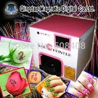 cheap fashion nail & artificial flower printer/5nails at one time