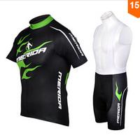 New 2014 Merida Team Cycling Clothing/Jerseys and Bib Shorts Sets Cycling Jersey Merida 2014 Black Green Cycling Merida