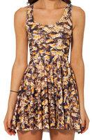 New 2014 Women Clothing Sexy Wild Intensive BEE REVERSIBLE SKATER DRESS Girl Pleat Dresses Summer Dress Drop Shipping S119-118