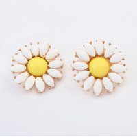 New Style Fashion Accessories Daisy Flowers Women's Earring Wholesale Factory Price ZC4P2 Free Shipping