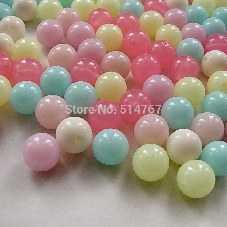 8mm Mixed Color Neon Acrylic Chunky Ball Beads Approx 360pcs Round Solid Beads for Jewelry Bracelets!Free Shipping DIY320014(China (Mainland))