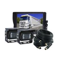 "9"" Digital LCD Car Rear View Camera System With 2pcs IR Reverse Camera Kit"