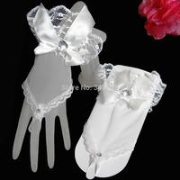 2014 New Arrival Gloves Bride Handmade Crochet Dress Gloves Fingerless Wedding Accessories Beige Bridal Fingerless Gloves