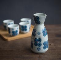 Japanese and wind wine wine suits export wine ceramics hip flask