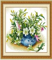 Needlework Exquisite Home Decor Embroidery Cross Stitch Kit  cross-stitch set Crafts Fresh lily