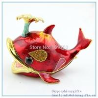 100% handmade   Ocean Series whale shape metal jewelry box  sc166