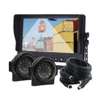 """9"""" Car Rear View Camera Mirror Cab Video System for Forklift Excavator Tractor"""