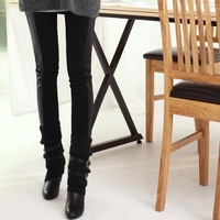 Free shipping new autumn and winter women's faux leather leggings pants were thin pantyhose wholesale side skin elasticity