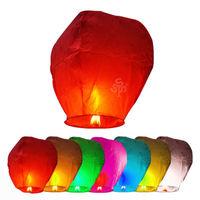 20Pcs Chinese KongMing Wishing Sky Flying Lanterns Fire Light Lamp Wedding Party Gift Tortoise Star Projector Lamp Music Light