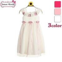 2014 new girls wedding voile dress sleeveless  one-piece kids dresses children princess flower summer clothing
