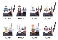 Star Wars Block Toy Mini figures Yuda Captain Rax Obi Wan Clone Trooper R4,Compatible