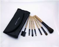 2013 New Arrival High quality 7 Pcs Set Makeup Brush Cosmetic Brushes Set Leather Case Makeup Brush