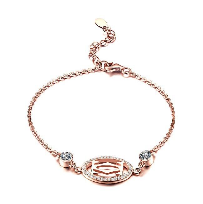 ... Diamond Bracelet Rose Gold Color 925 Sterling Silver Filled Gold