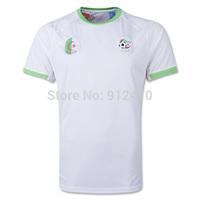 Top Thailand Quality 2014 World Cup White Algeria Home Soccer Jerseys Futbol Camiseta, Free Shipping