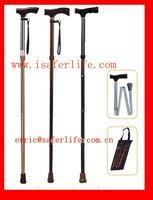 2014 wholesale fashion adjustable folding walking cane/poles/ frame