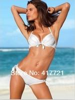 ML37080 Push Up Swimwear Ladies Summer Beachwear Bikini Sets Padded Bra Bathing Print Swimsuit For Women 5 Colors