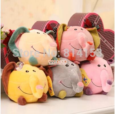 Free Shipping round cute elephant plush toy for children,Soft baby animal stuffed toy plush dolls for kids 2pcs/lot(China (Mainland))