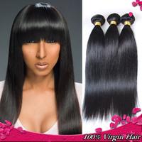 6A Grade Rosa hair products brazilian virgin hair straight 4 pcs lot  brazilian human hair weave virgin brazillian straight hair