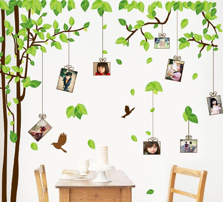 Muurstickers Keuken Decoratie : Picture Frame Family Tree Wall Sticker