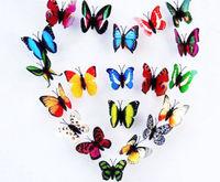50pcs BUTTERFLIES 3D  Wall Stickers Butterfly Room Decor 3D three-dimensional wall stickers butterfly fridge magnet wedding