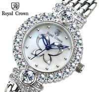 Women's Wristwatches Japan Quartz Movement Fashion Casual Diamonds Jewelery Watches Luxury Brand Royal Crown Women dress relogio