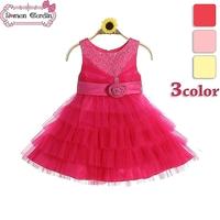 2014 girls new voile layered dress  princess party sequin  children lovely flower belt sleeveless one-piece kids summer clothing
