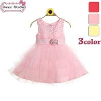 2014 girls  lovely flower belt sleeveless dress  voile layered dress  princess party   one-piece kids summer clothing