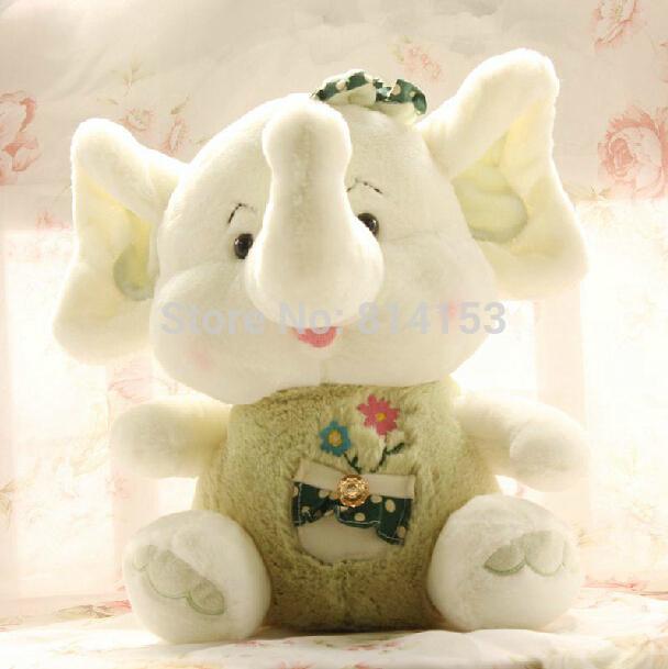 Free Shipping cute elephant plush doll for children,Soft animal elephant stuffed plush toy for gift(China (Mainland))