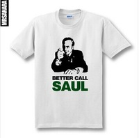 2014 new men's&womens summer TV (Breaking Bad) better call saul print short-sleeve T-shirt slim fit plus size brand casual skate