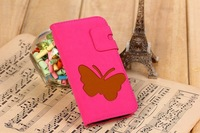 For Samsung Galaxy  S4 IV i9500 Butterflyl Pattern Leather Unique Wallet Credit Card Flip Stand Case Cover+1pcs Screen Protector