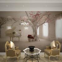 Large mural wallpaper bedroom living room sofa TV wallpaper wallpaper 3D stereoscopic building