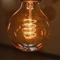 2 PCS Edison Tungsten Globe Filament Vintage Antique E27 Light Bulb G80,Arte Home Decoration,Free Shipping