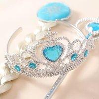 Children Girls Frozen Accessories Set Ornaments Magic Wand + Rhinestone Crown + HairBand + Hairpiece Girls Wig Party accessories