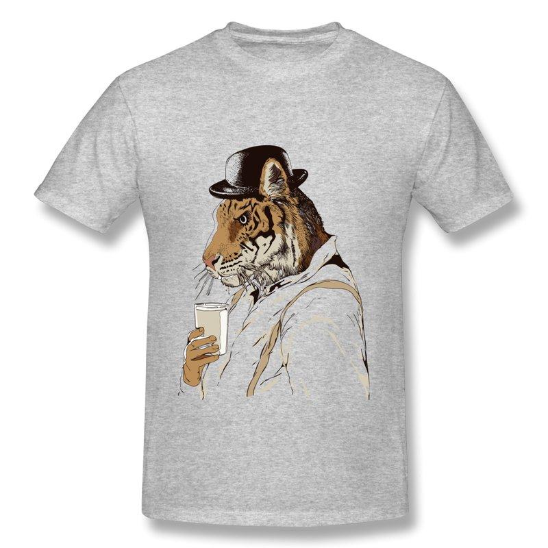 Casual Men T-Shirt Clockwork Tiger Customize Cool Logo T Shirts Men 2014 Summer Famous Brand(China (Mainland))