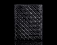 Wholesale woven pattern Genuine Leather Men's Wallet Short Brand Cowhide Wallet/Purse For Men Male Business Short Wallet leather