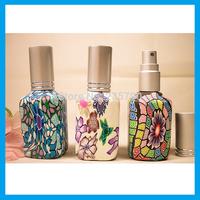 Wholesale - 15ml Color Flower Perfume Glass Bottle Spray Bottle Perfume Dispenser 10pcs/lot L018